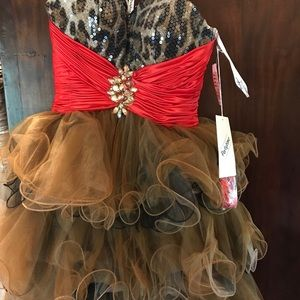 Leopard cocktail/party/holiday dress